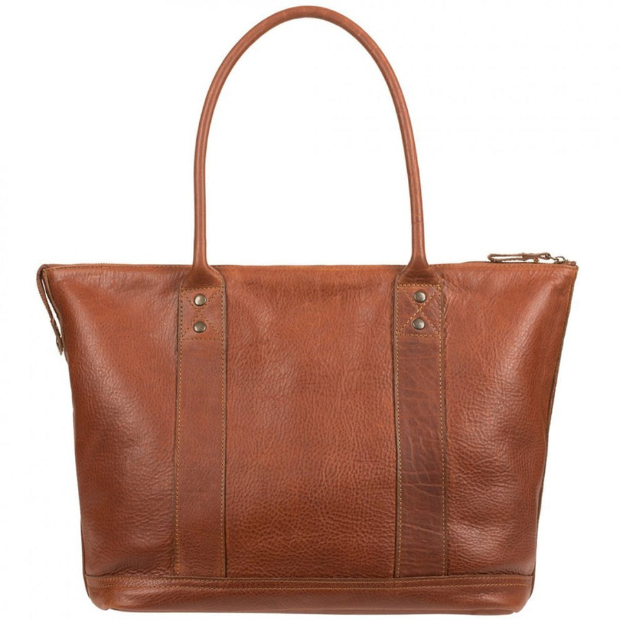 Will Leather Goods Men's Signature Getaway Cognac Brown Tote Bag