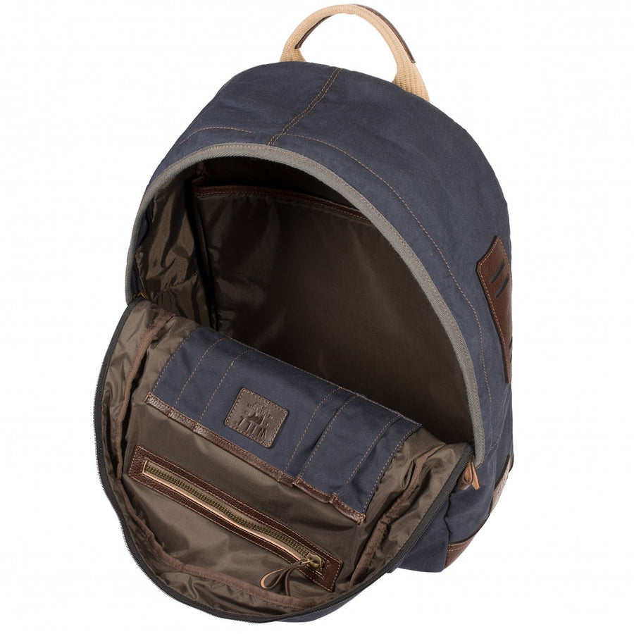 Will Leather Goods Owl Point Dome Backpack Bag, Navy