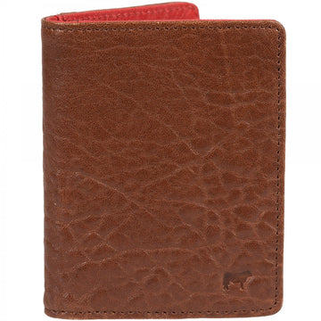 Will Leather Goods Flip Front Pocket Bifold Wallet, Cognac with Rust Lining 3