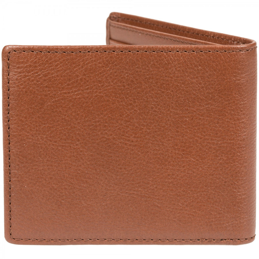 Will Leather Goods Wallet, Classic Billfold in Cognac Vegetable Tanned Top Grain Leather, 4.5