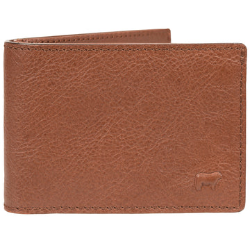 Will Leather Goods Slim Billfold Wallet Men's Classic Collection, Cognac, 4.25