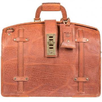 Will Leather Goods William Collection The Counsel Leather Laptop Bag, Whiskey