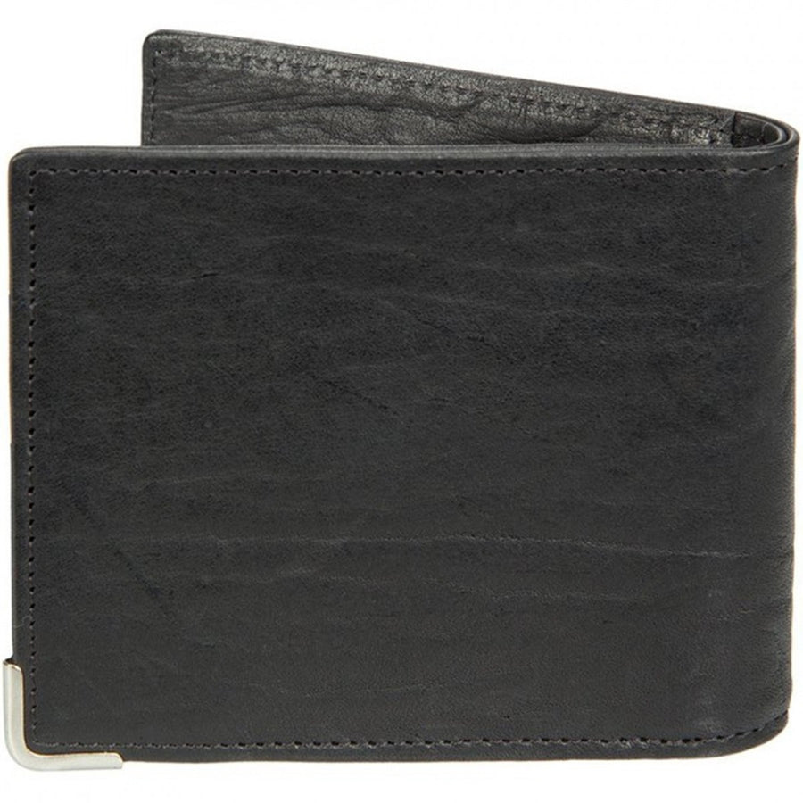 Will Leather Goods The Industrial Leather Card Holder Wallet, Black