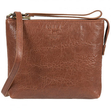 Will Leather Goods Women's Opal Leather Crossbody Bag, Cognac