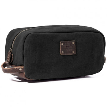 Will Leather Goods Grady Travel Kit, Black/Brown