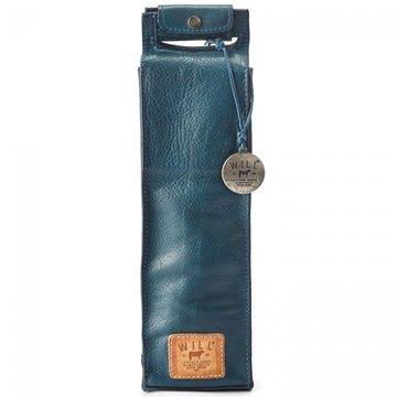 Will Leather Goods Single Wine Bottle Carrier Bag, Blue