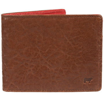Will Leather Goods Marvel Wallet in Cognac Italian Lambskin