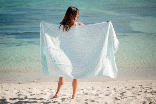 IONIAN CHEVRON DOUBLE-SIDED BEACH TOWEL