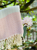 PORTOFINO PESTAMEL CHEVRON WITH ROPE TASSEL