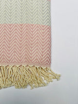 PORTOFINO PESTAMEL CHEVRON WITH ROPE TASSEL.