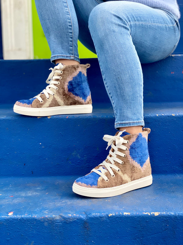 SILK VELVET HIGH TOPS.
