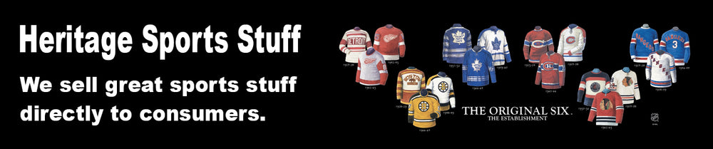 Heritage Sports Stuff NHL uniform evolution posters and plaques