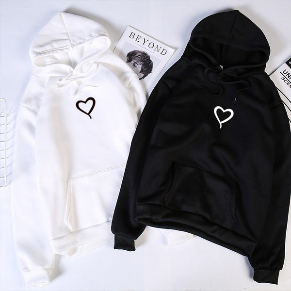 Couples Heart Hoodie