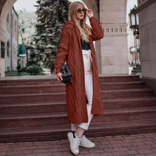 Load image into Gallery viewer, Fashion Hooded Casual Knitted Long Sweater Coat