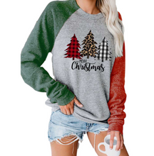 Load image into Gallery viewer, Women's Believe Christmas Print Contrast Top
