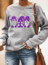 Load image into Gallery viewer, Christmas Color Gnomis Print Sweatshirt