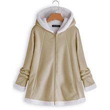 Load image into Gallery viewer, Fashion Warm Long Sleeve Hooded Zipper Pocket Coat