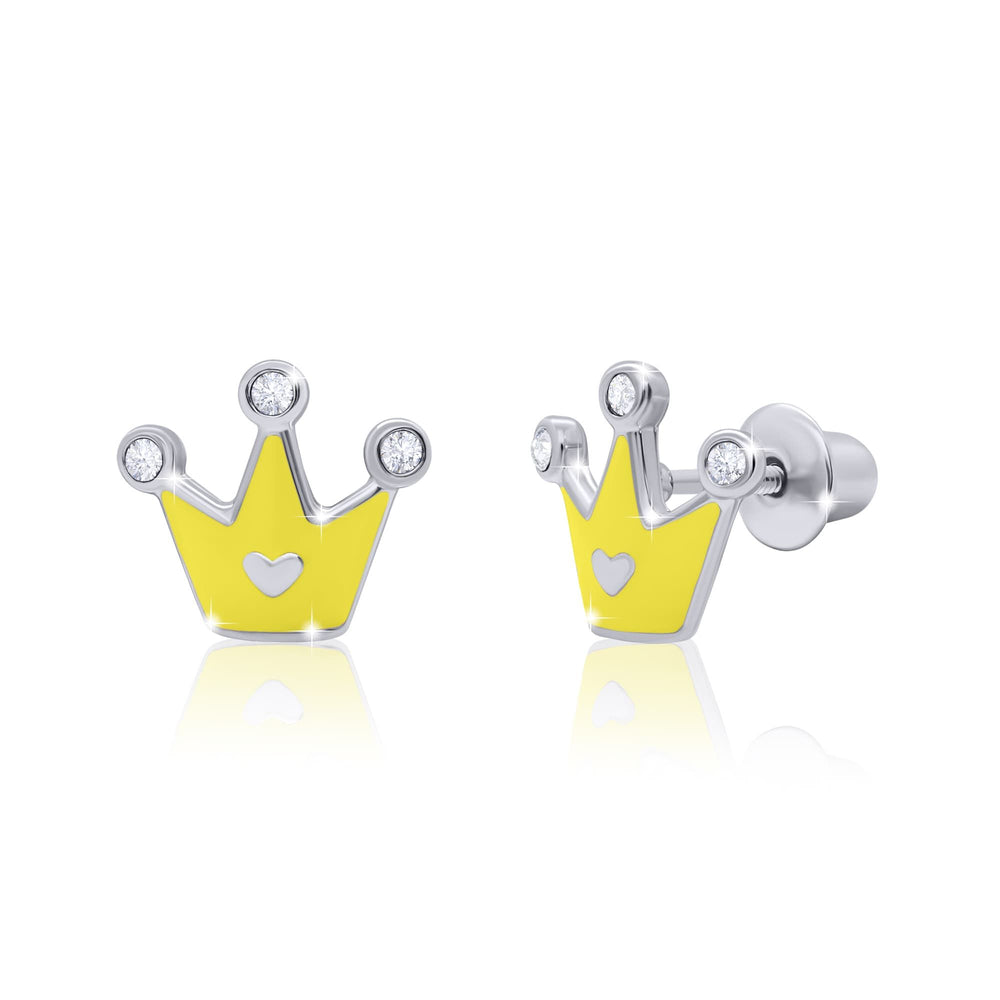 "Earrings ""Crown with a Heart"""