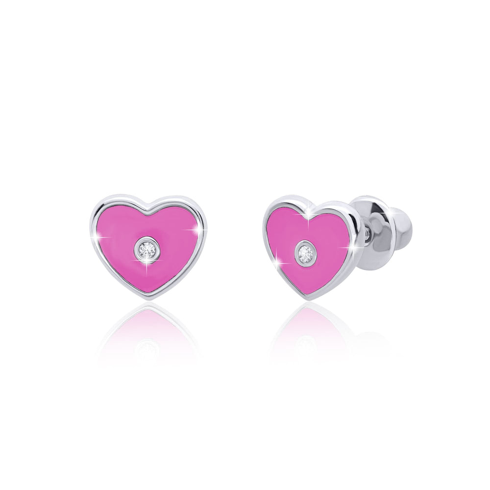 "Load image into Gallery viewer, Earrings ""Heart with a stone"""