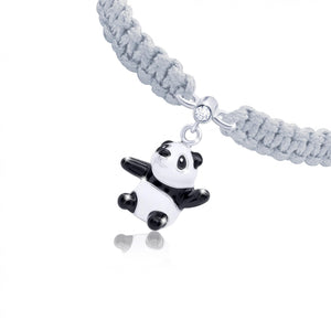 "Braided Bracelet ""Panda Bear"""