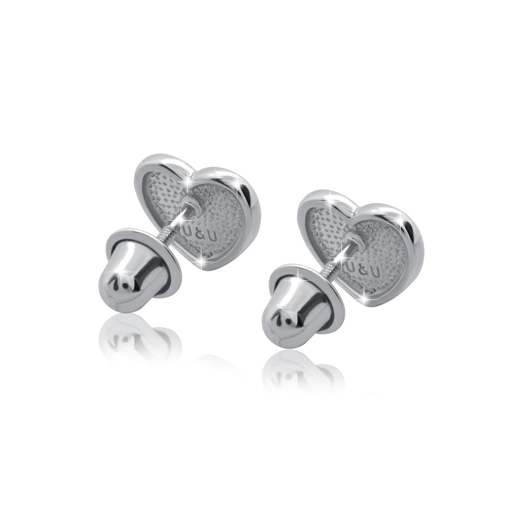 "Earrings ""Heart with a stone"""