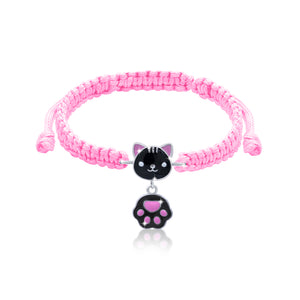 "Braided bracelet ""Cat with a paw"""