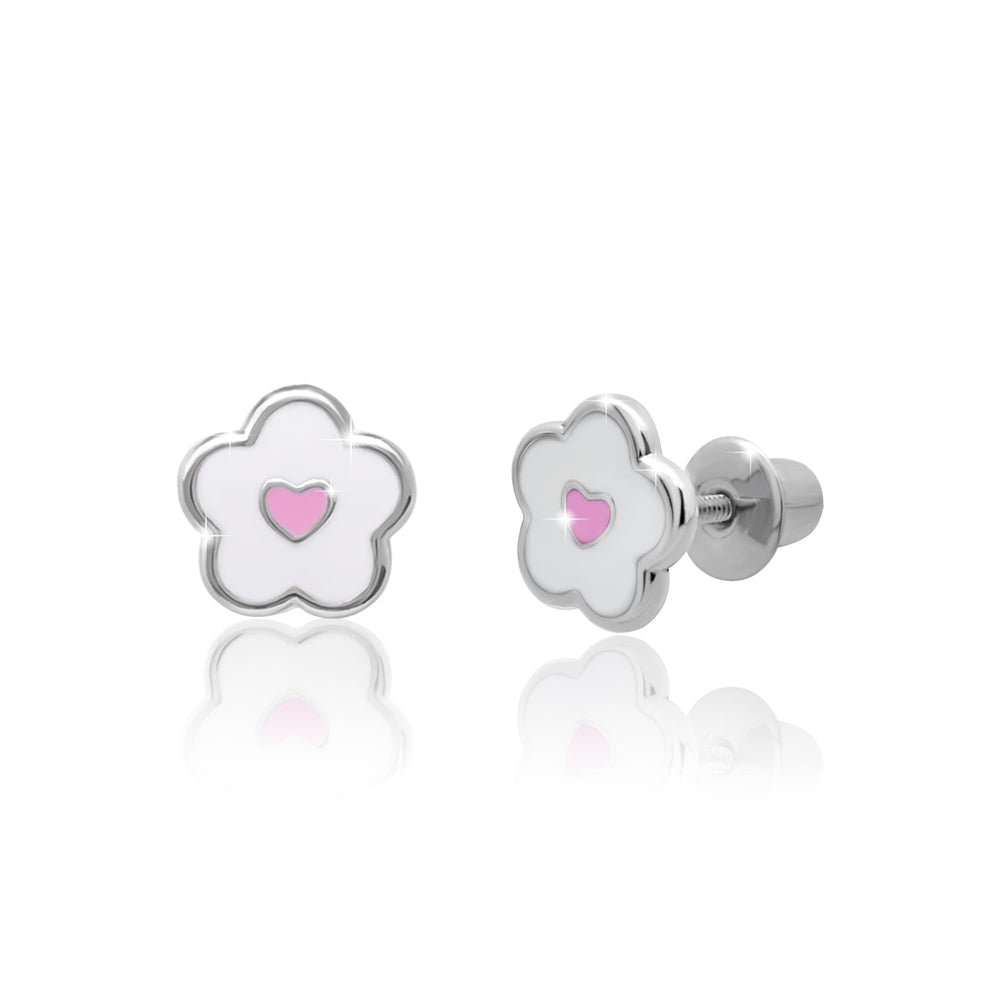"Earrings ""Flower with a Heart"""