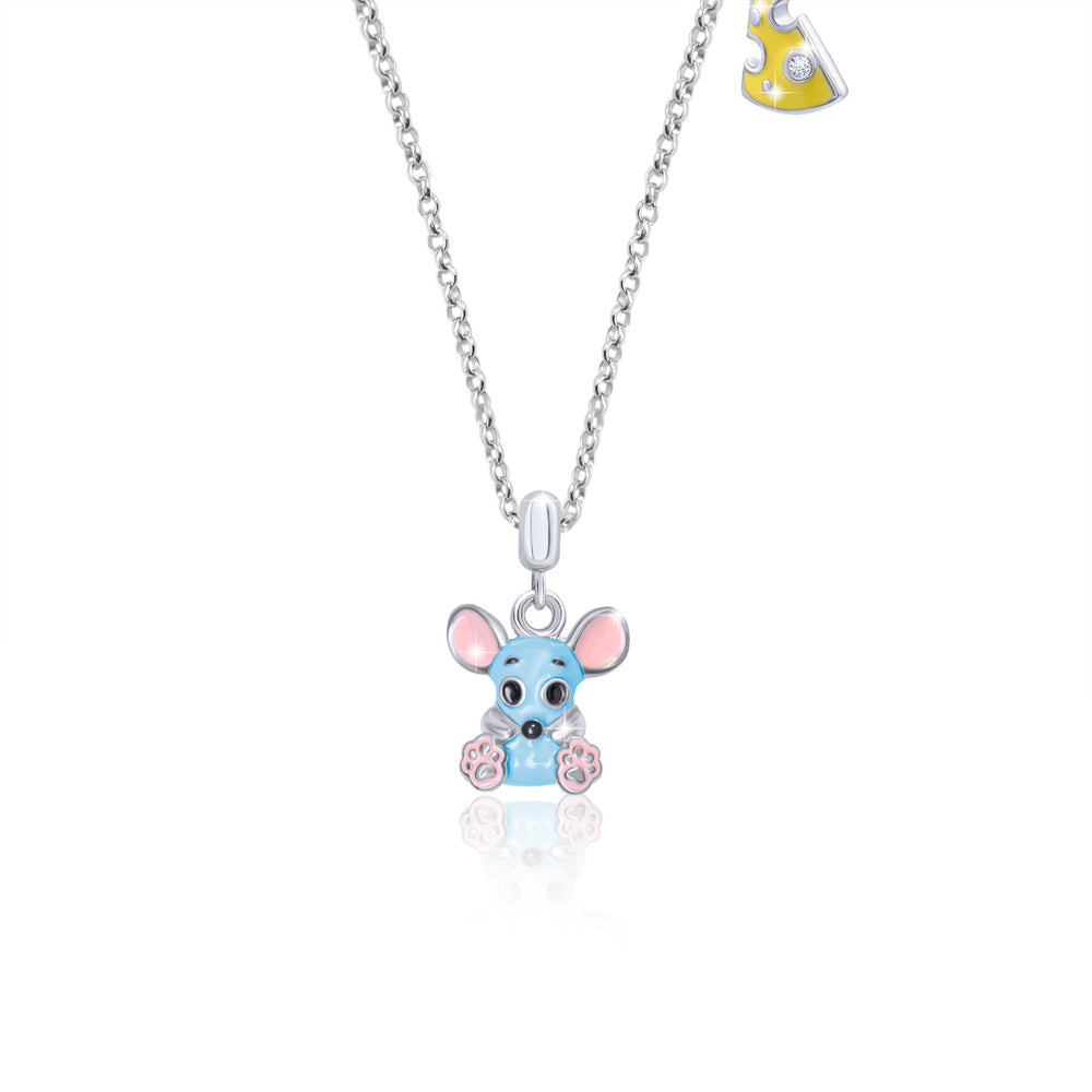 "Necklace ""Mouse with Cheese"""