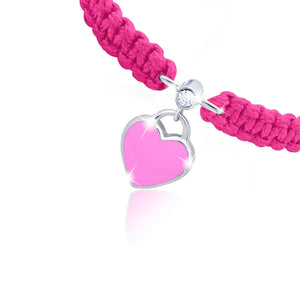 "Braided Bracelet""Heart"""