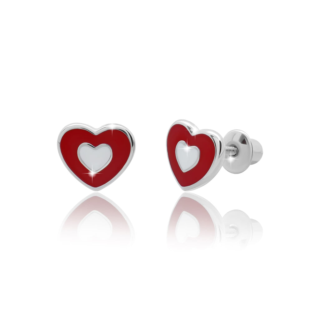 "Earrings ""Heart in a Heart"""