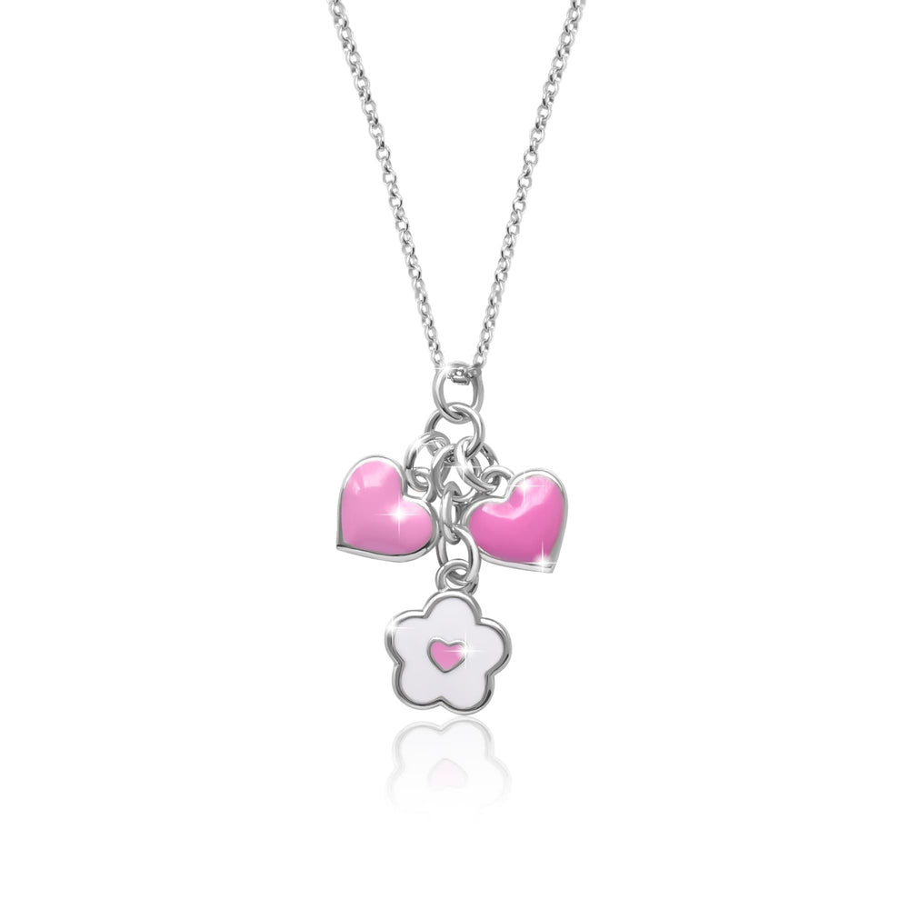 "Necklace ""Flower with Heart"""