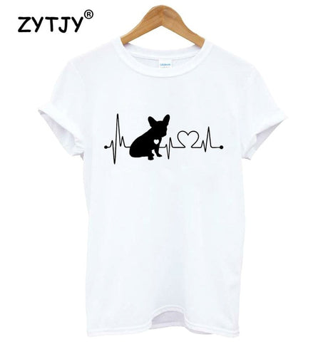 T-shirt Bouledogue Français Heartline