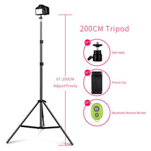 Load image into Gallery viewer, Tripod for Phone with Bluetooth Remote Control Selfie flash photo