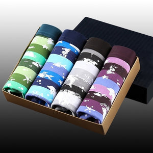 Mens 4Pcs\lot  Underwear Boxers