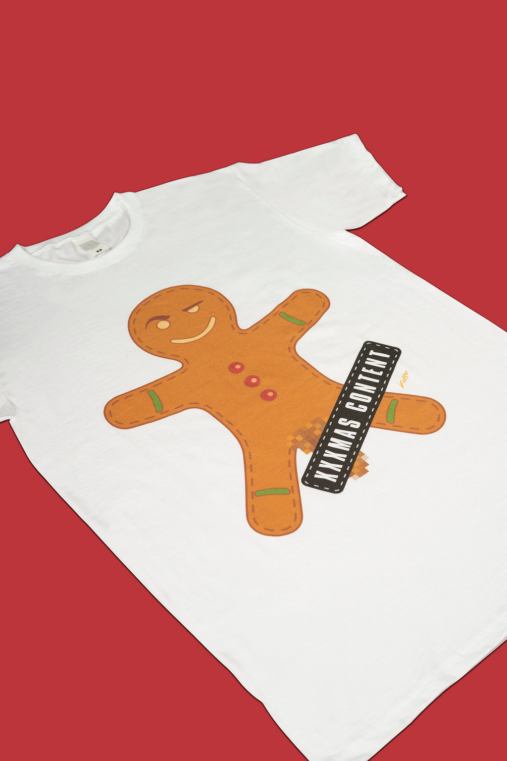 Biscuit T-shirt. 100% Cotton