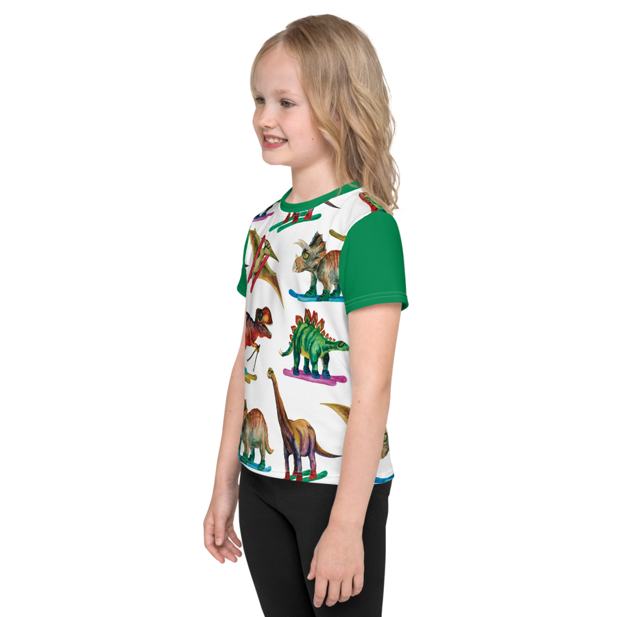 Kids Dinosaur Ski Day Tee