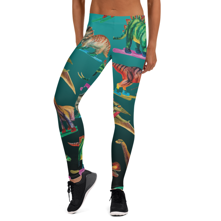Dinosaur Ski Day Low Rise Leggings