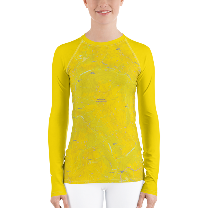 Snowmass Topo Map - Long Sleeve Base Layer Shirt - Women's