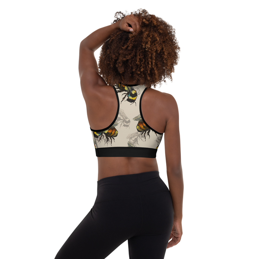 Bee Kind Padded Sports Bra