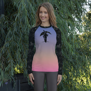Night Sky, Night Ski Long Sleeve Base Layer Shirt - Women's