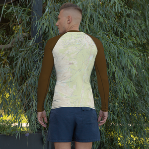 Breckenridge Topo Map - Long Sleeve Base Layer Shirt - Men's