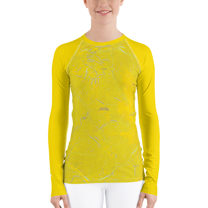 Keystone Topo Map - Long Sleeve Base Layer Shirt - Women's