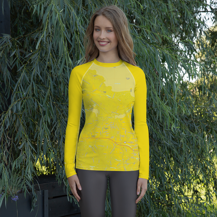 Marquette Topo Map - Long Sleeve Base Layer Shirt - Women's