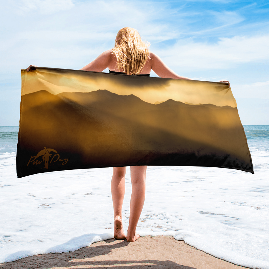 High Country Sunset Beach Towel