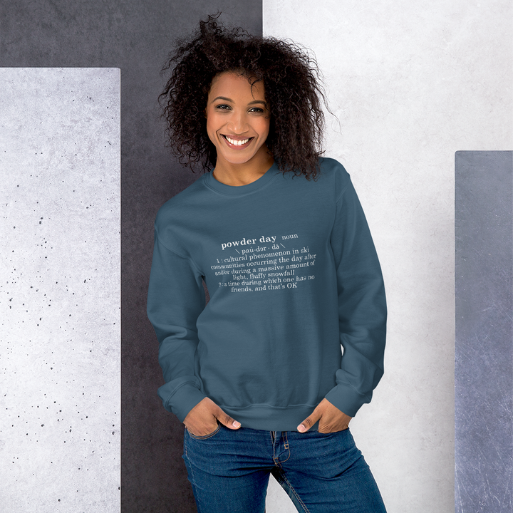 Powder Day Definition Crewneck Sweatshirt - Unisex