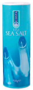 Costa Sea Salt Fine Mediterranean 750g (for pouring, shaking or seasoning)