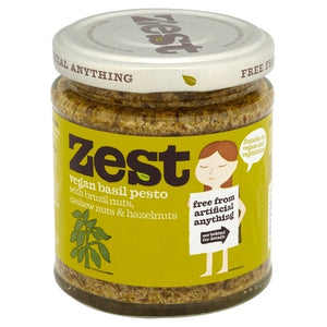 Zest Basil Pesto  Suitable for Vegans & Vegetarians 165g (dairy free, gluten free)