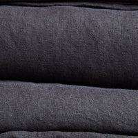 Stonewashed Linen Pillowcase - Charcoal