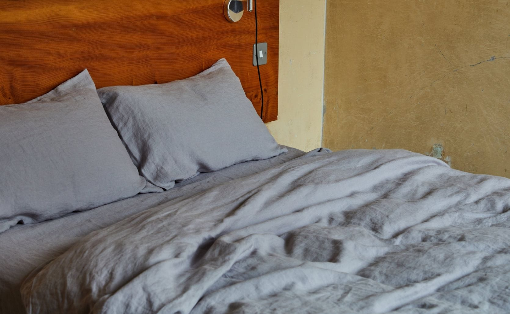 grey linen duvet cover