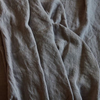 Stonewashed Linen Flat Sheet - Light Grey